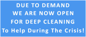 deep cleaning during the crisis